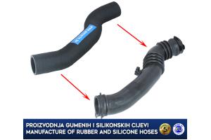 FORD FOCUS II/C-MAX, 1.6 TDCI, intercooler turbo  hose, replace plastic hose