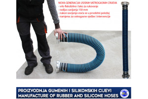 RUBBER SUCTION HOSE FOR FIRE EXERCISES AND INTERVENTIONS