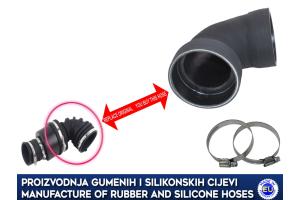 OPEL INSIGNIA 1.6 CDTI, gumeno crijevo od filtera zraka do turbine, 464918663, GM 22945618, 22945618, 4013406A